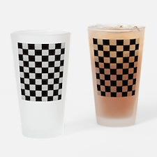 Classic Checkerboard Drinking Glass
