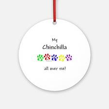 Chinchilla Walks Ornament (Round)