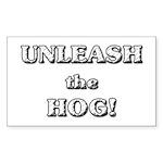 Unleash The Hog Rectangle Sticker