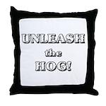 Unleash The Hog Throw Pillow
