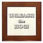 Unleash The Hog Framed Tile