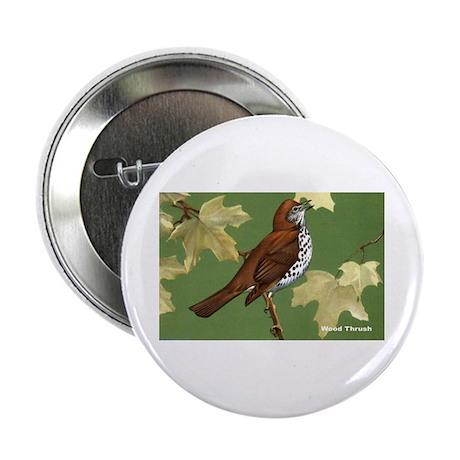 Wood Thrush Bird Button