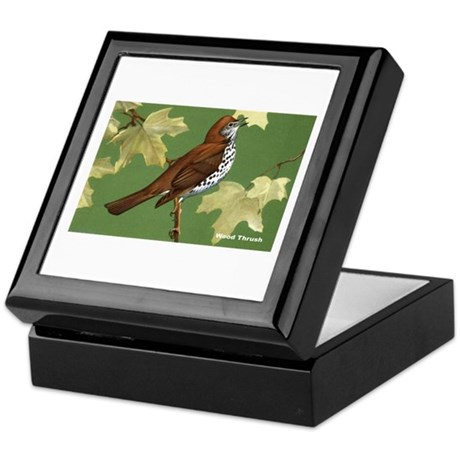 Wood Thrush Bird Keepsake Box