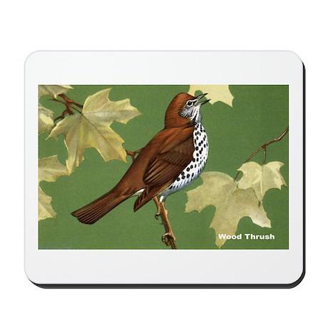 Wood Thrush Bird Mousepad