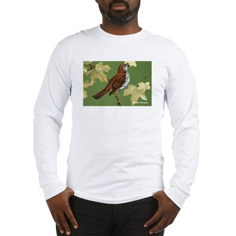 Wood Thrush Bird Long Sleeve T-Shirt