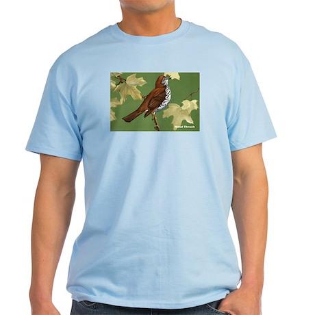 Wood Thrush Bird Light T-Shirt