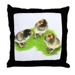 Brown Brabanter Chicks Throw Pillow
