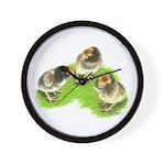 Brown Brabanter Chicks Wall Clock
