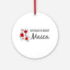 WB Mom [Romanian] Ornament (Round)