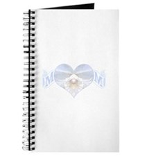 Mom's heart with white orchid Journal