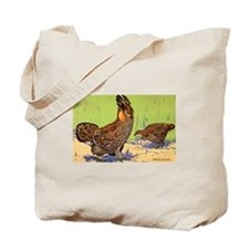 Prairie Chicken Bird Tote Bag