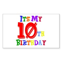 10th Birthday Rectangle Decal