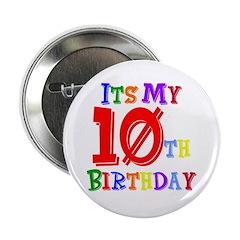 10th Birthday Button