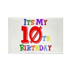 10th Birthday Rectangle Magnet