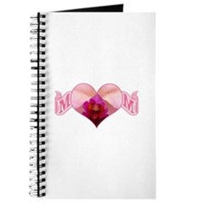 Mom's heart with pink orchid Journal