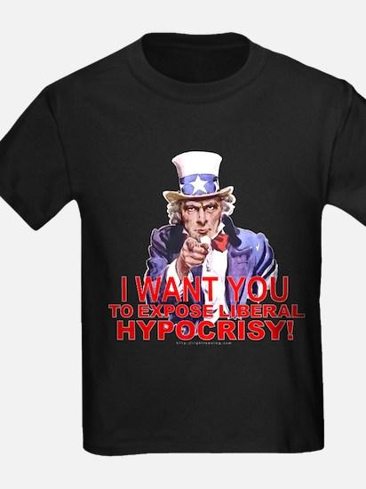 "Uncle Sam ""Expose Hypocrisy"" T"