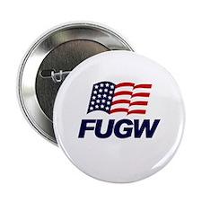 FUGW Button 1 piece (Bushblue on White)