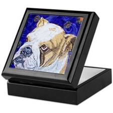Starry Night Bulldog Keepsake Box