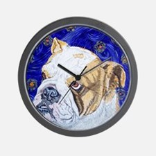 Starry Night Bulldog Wall Clock