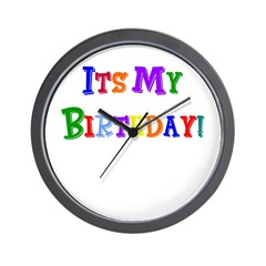 It's My Birthday (Multi) Wall Clock