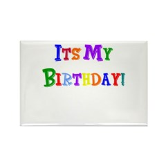 It's My Birthday (Multi) Rectangle Magnet (10 pack