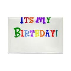 It's My Birthday (Multi) Rectangle Magnet