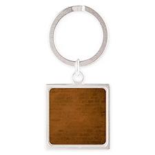 Burnt orange brick texture Keychains