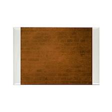 Burnt orange brick texture Magnets