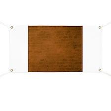 Burnt orange brick texture Banner