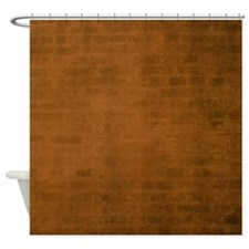 Burnt orange brick texture Shower Curtain