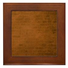 Burnt orange brick texture Framed Tile