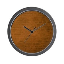 Burnt orange brick texture Wall Clock