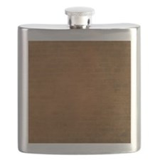 Burnt orange brick texture Flask