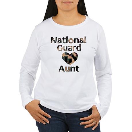 NG Aunt Heart Camo Women's Long Sleeve T-Shirt