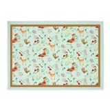 Forest animals Area Rugs