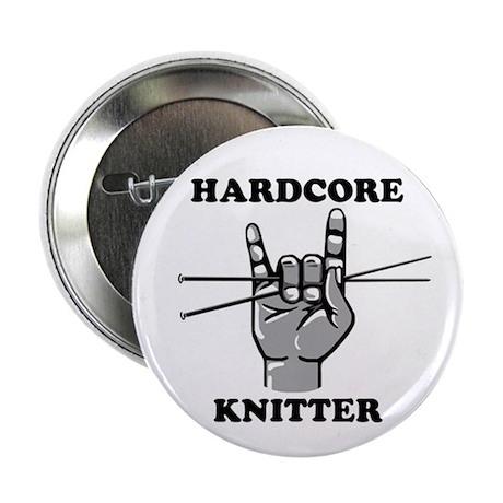 Hardcore Knitter Button