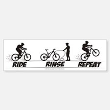 Ride Rinse Repeat Bumper Bumper Bumper Sticker