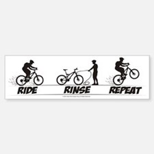 Ride Rinse Repeat Bumper Car Car Sticker