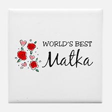 WB Mom [Polish] Tile Coaster