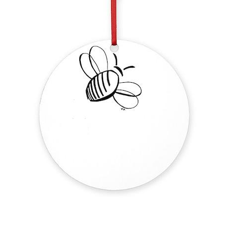 Simple Honey Bee Ornament (Round)