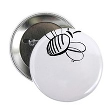 """Simple Honey Bee 2.25"""" Button"""