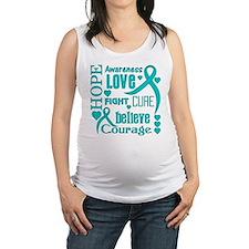 Ovarian Cancer Hope Maternity Tank Top