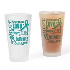 Ovarian Cancer Hope Drinking Glass