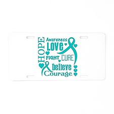 Ovarian Cancer Hope Aluminum License Plate