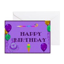 Balloons and Ice Cream Cards (Pk of 10)