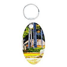 Gauguin - Cabin under the T Keychains