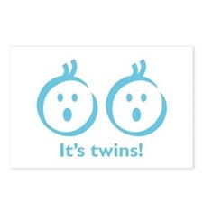"""""""It's twins!"""" (boy) Postcards (Package of 8)"""
