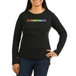 Queer Morse Bar Women's Long Sleeve Dark T-Shirt