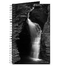Black & White Waterfall Journal