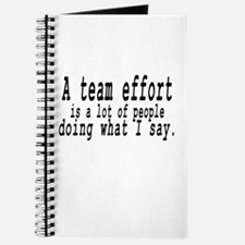 A TEAM EFFORT Journal